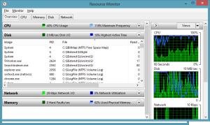 Resource Monitor screenshot