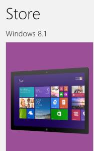windows 8.1 in windows store