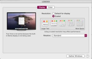 mac display menu default