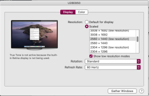 mac displays with low resolutions